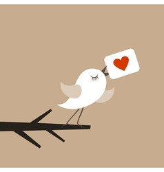 Bird of love vector image