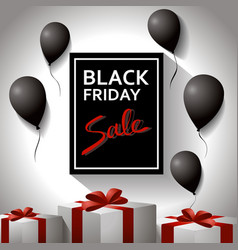 black friday concept template poster with black vector image vector image