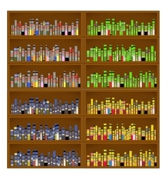 Books are on the Bookshelves vector image