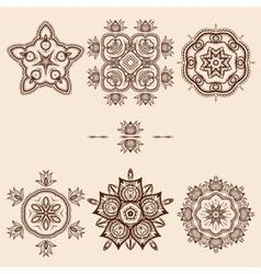 Brown Flower Pattern Pack vector image