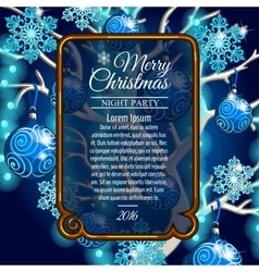 Card with space for text and style Christmas tree vector image