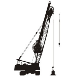 construction crane vector image