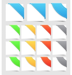 Design elements corners vector image vector image