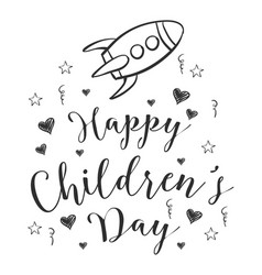 doodle childrens day hand draw vector image vector image