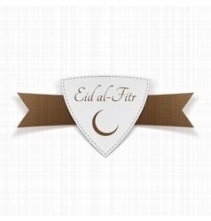 Eid al-fitr muslim paper label vector