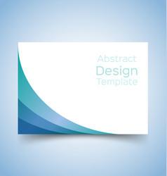 flyer template wave design 3 vector image vector image