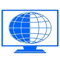 Globe in TV vector image