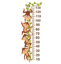growth measure with monkey on vine vector image vector image