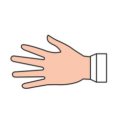 hand cartoon silhouette vector image vector image