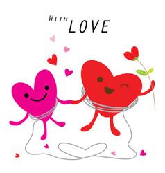 heart cute cartoon character vector image vector image