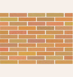 Masonry of brown bricks different shades vector