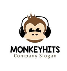 Monkey hits vector