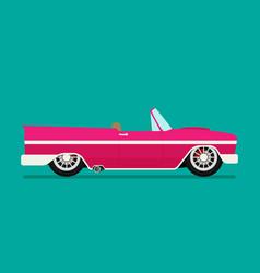 Old school car flat vector