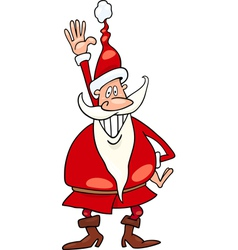 santa claus christmas cartoon vector image