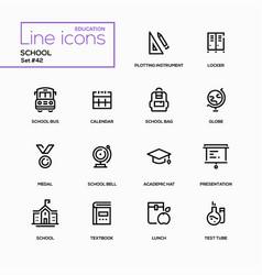 School concept - line design icons set vector