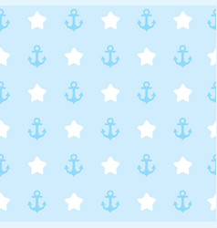 seamless pattern with anchor texture for clothes vector image