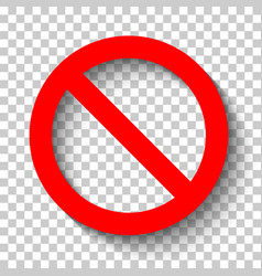 sign ban1 vector image vector image