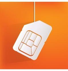 Sim card web icon vector image