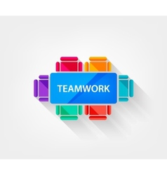 Teamwork icon vector