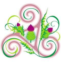 Thistle and celtic triad vector