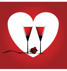 valentines cocktail vector image
