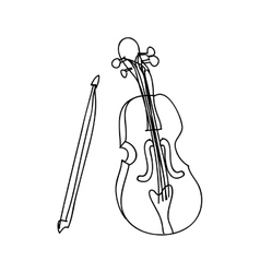 Violin instrument icon image vector