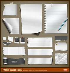 White paper and black paper collections vector