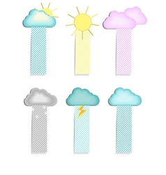 labels with a cloud vector image