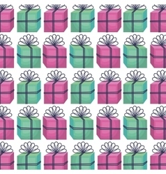 Giftbox present pattern icon vector