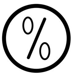 Icon percent vector