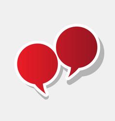 speech bubble sign new year reddish icon vector image