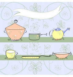 kitchen equipment vector image
