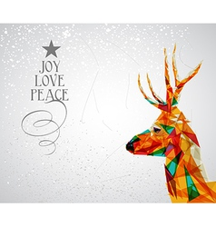 Merry christmas reindeer shape vector