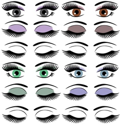Eyes set vector