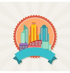Cityscape background with buildings vector