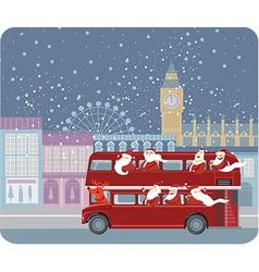 Santa bus vector image