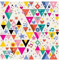 Fun triangles background vector