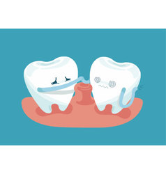 Gingivitis teeth vector