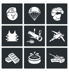 Russian special forces icons vector