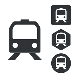 Train icon set monochrome vector
