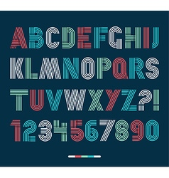 Retro stripes funky fonts settrendy elegant retro vector