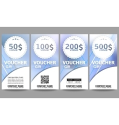 Set of modern gift voucher templates winter vector