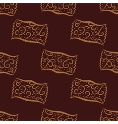 Seamless pattern from hand drawn curl candies vector image