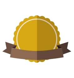 Yellow vintage badge vector