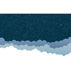 Background clouds starry sky eps 10 vector