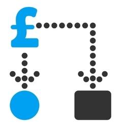 Pound cashflow flat icon symbol vector