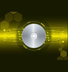 cd dvd disk on digital background vector image