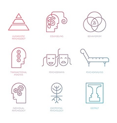 Psychology icon set vector