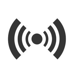 black radar icon with stripes graphic vector image