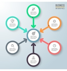 Business infographics diagram for presentation vector